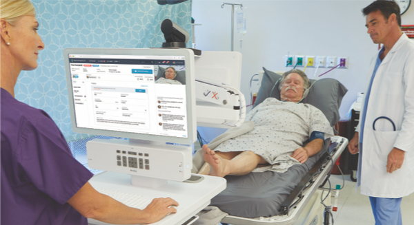 patient in hospital room